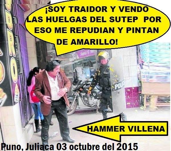 HAMER VILLENA DEL CEN SUTEP EXPULSADO POR LOS MAESTROS EN LA REGIÓN PUNO.