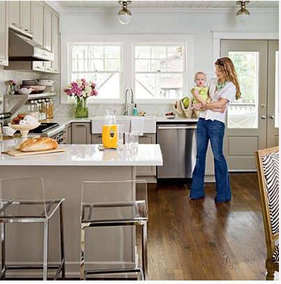 I LUST After These Lucite Stools From CB2. I Hunted Them Down After Seeing  Them In This Kitchen.