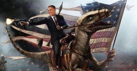 Obama riding a dinosaur jpgObama Riding A Dinosaur