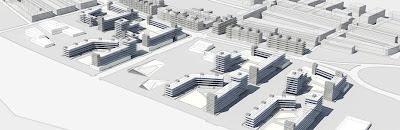 Conjunto residencial 3d render