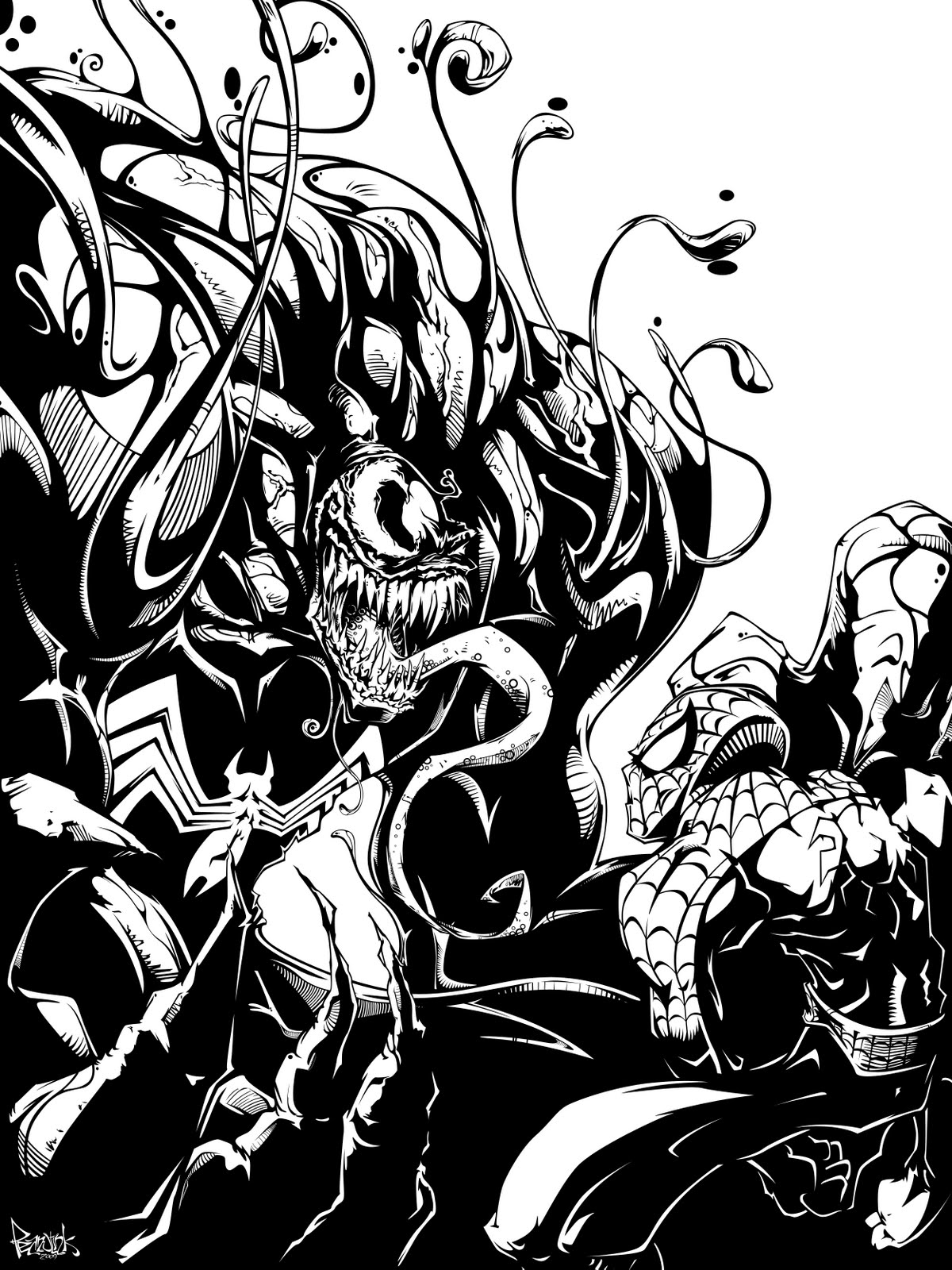 SPIDERMAN COLORING VENOM COLORING PAGE