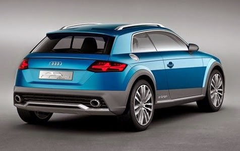 2015 Audi Q1 Crossover Rear View