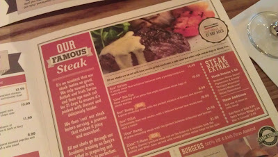 The Observatory Beefeater Menu