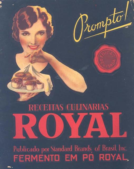 Propaganda do Pó Royal apresentado nos anos 40.