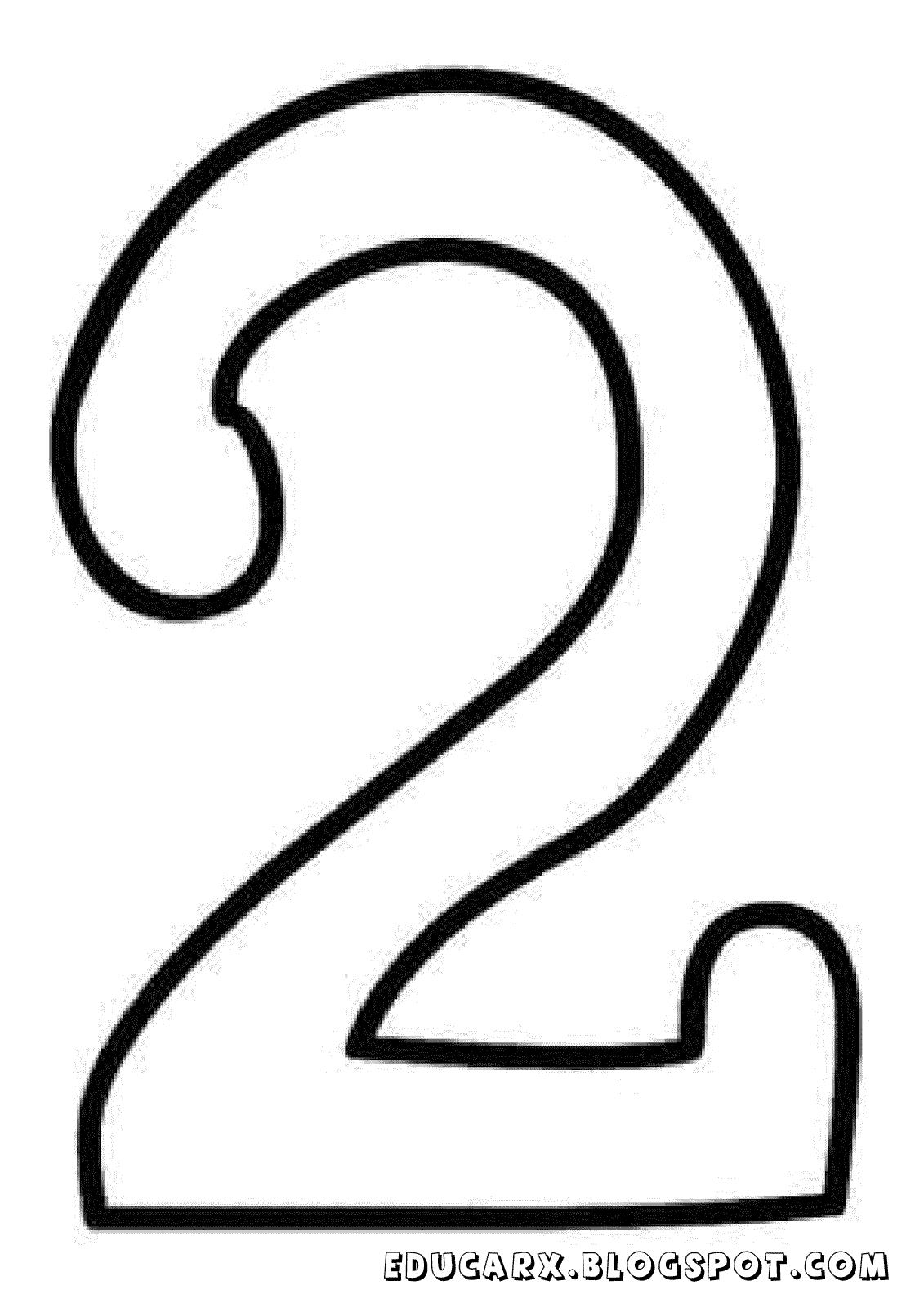 Molde do numero 2
