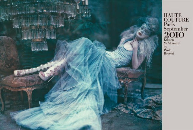 Kristen McMenamy in 'Haute Couture Paris' by Paolo Roversi for Vogue Italia September 2010 | Ses Rêveries
