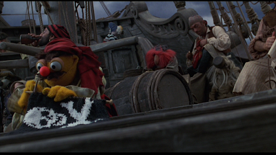 Lew Zealand knitting a Jolly Roger