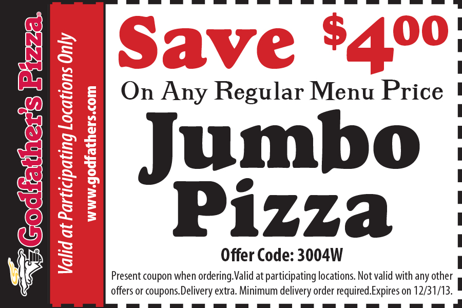 The godfathers buffet coupons gives promotional offers on selected items and even discounts thus value for money. Godfathers has a variety of crusts however you can also custom make your own pizza by simply selecting what you want to be put in you pizza.