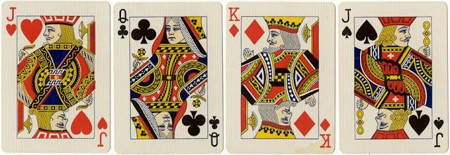 англо-американский шаблон игральных карт