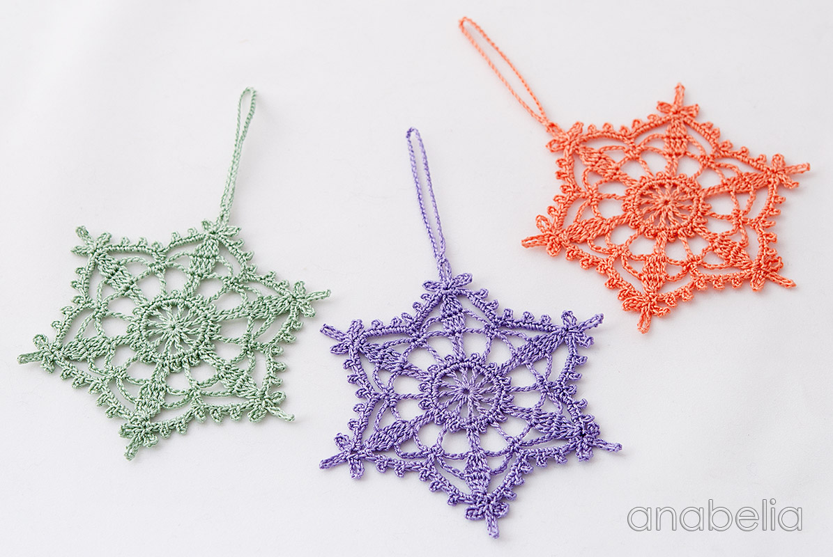 Shabby-chic crochet star ornament