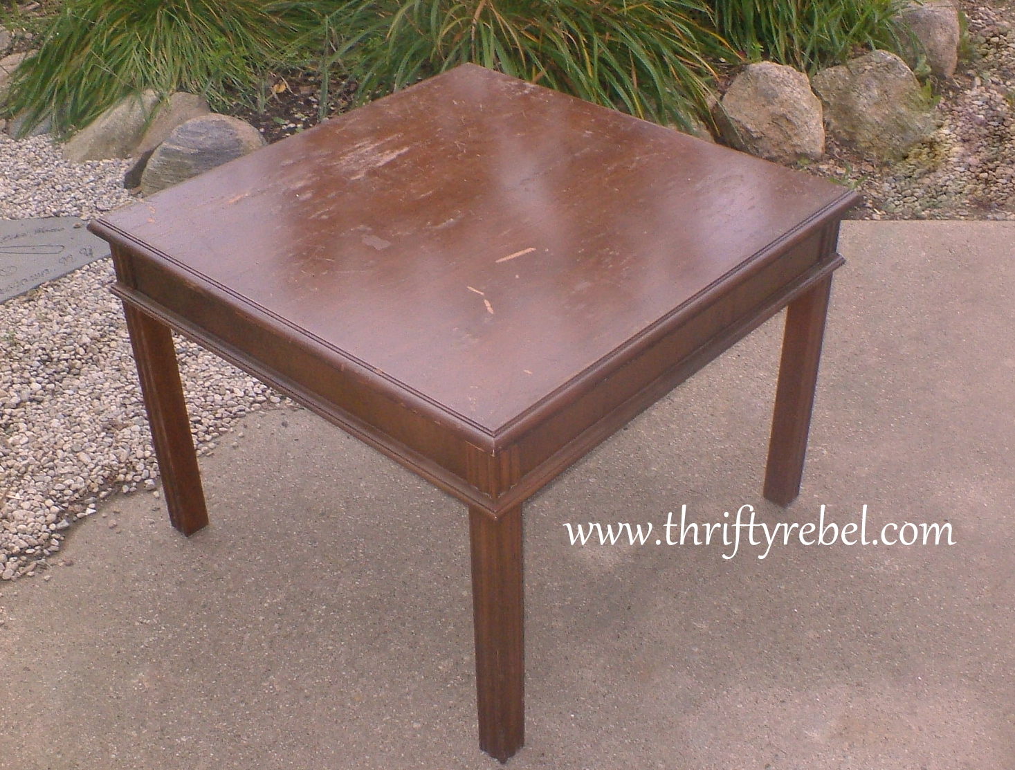 table makeover with chalkboard paint thrifty rebel vintage