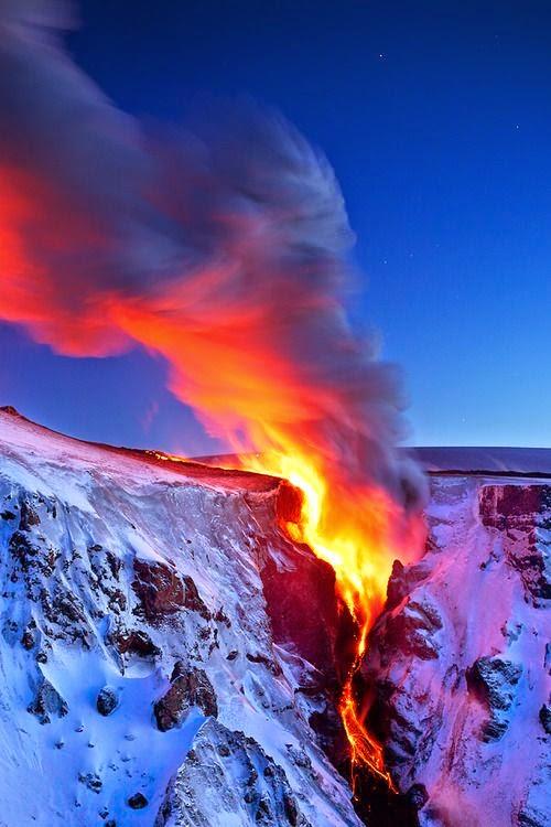 Incredible Volcano Eruption Photo