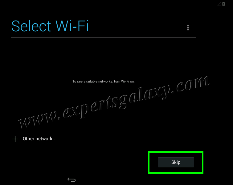 Android Wi-Fi Selection Screen