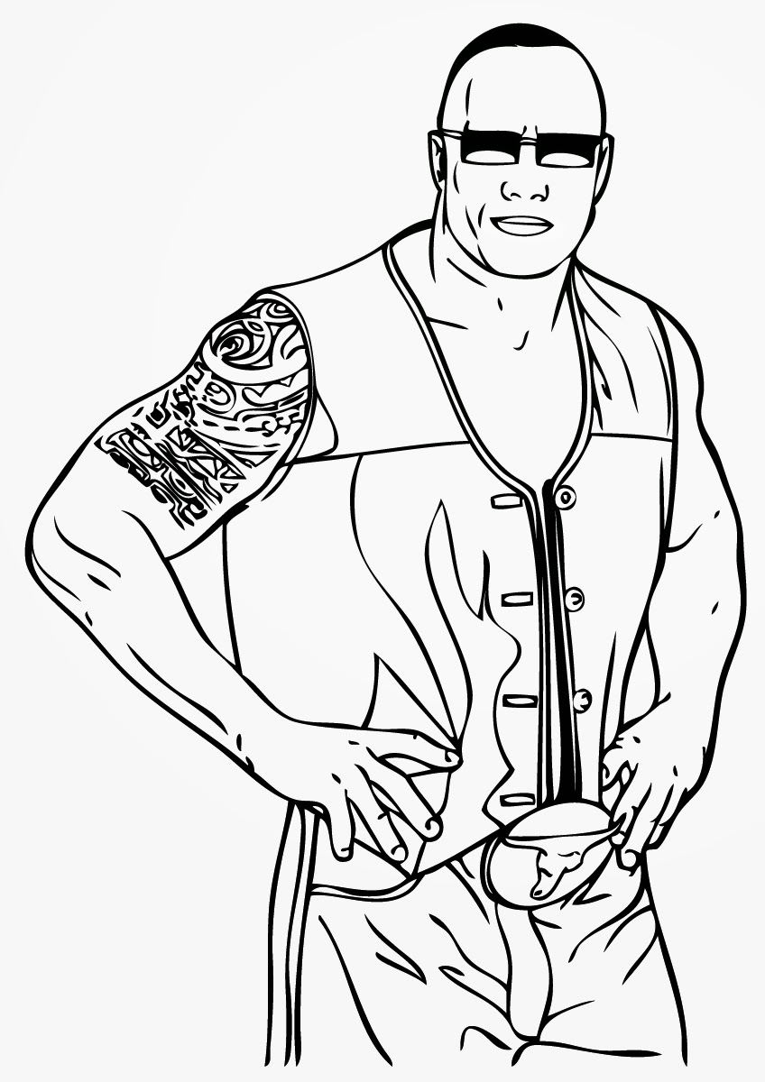 coloring pages wwe - photo#30