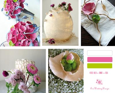 allestimenti matrimonio verde e rosa