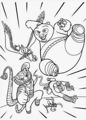 Kung Fu Panda para imprimir y colorear ~ Dibujos para Niños