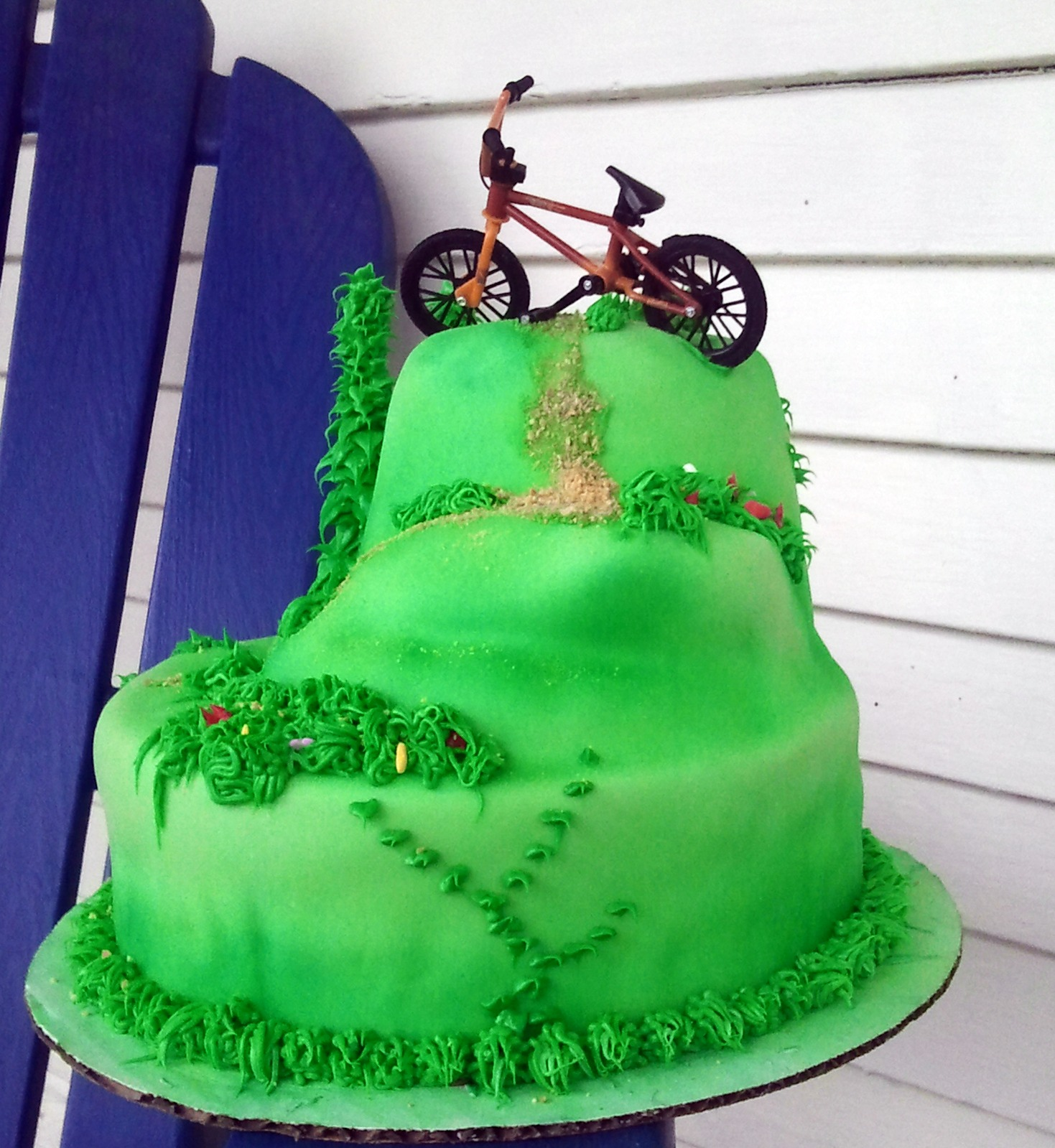 The Cake Villain: Mountain Bike Birthday Cake