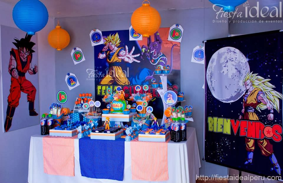 Decoración de fiesta de Dragon Ball Z - Imagui