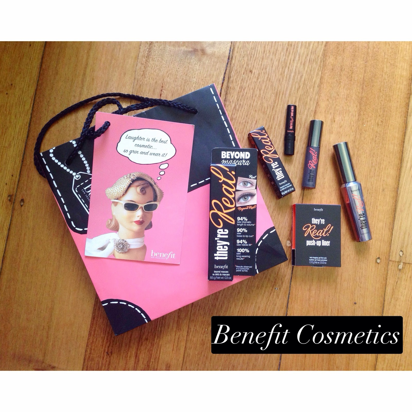benefit mascara eyeliner they're real