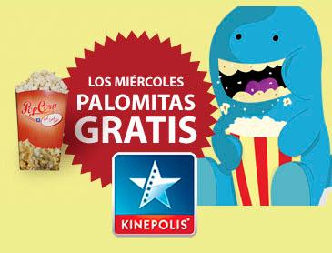 Promoción Kinepolis palomitas gratis