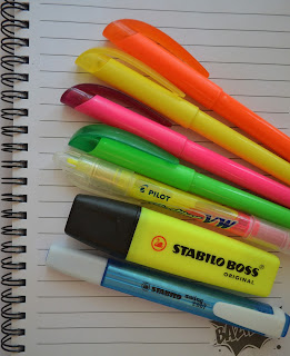 different coloured highlighters