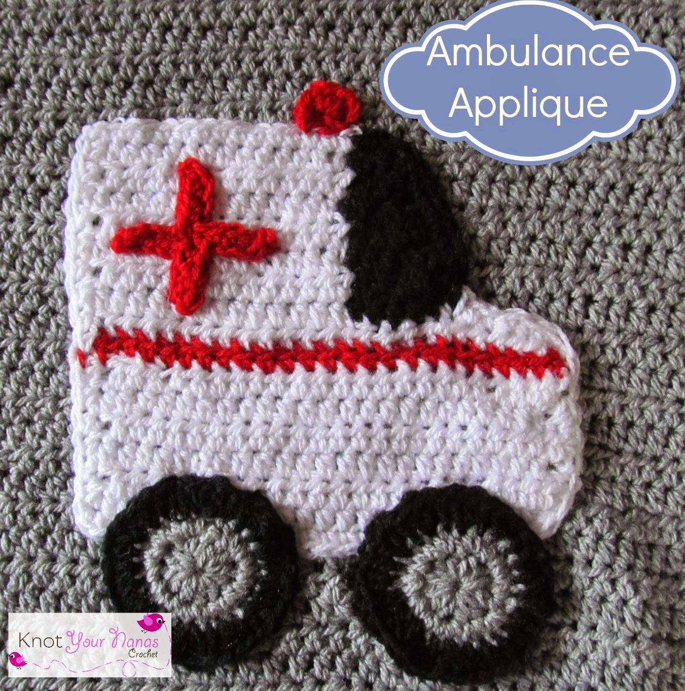 Crochet-Ambulance-Applique