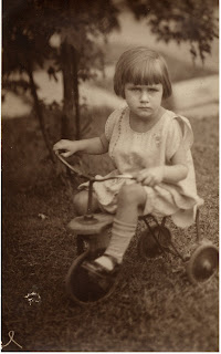 Janet age 2 on a trike, Akron Ohio