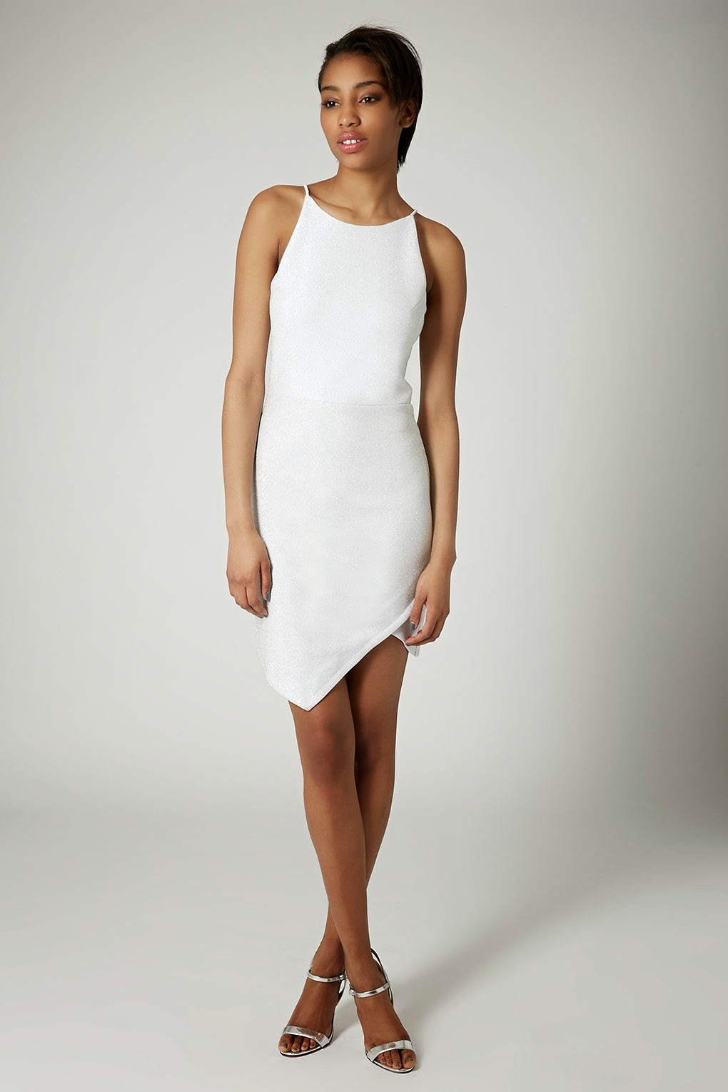 white topshop dress, strappy white dress,
