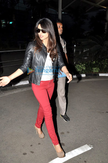 Priyanka Chopra spotted at airport and returning from Hyderabad