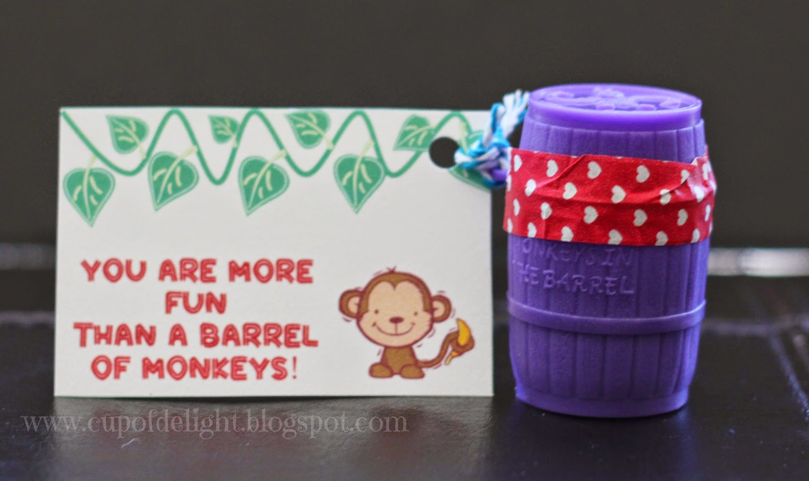 barrel of monkeys valentine