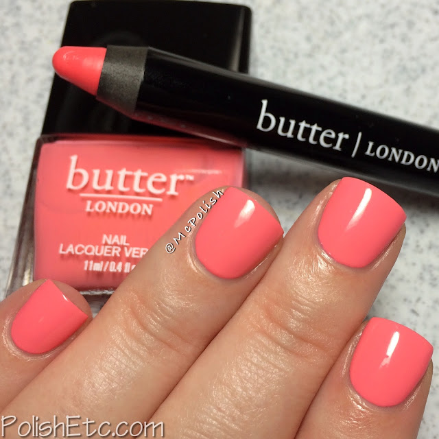 Butter London - Bloody Brilliant Lip Crayon and Polish - McPolish - Trout Pout