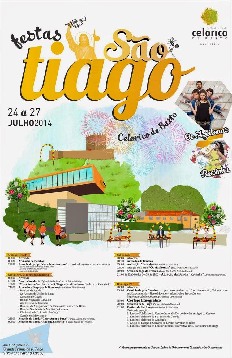 Cartaz das Festas de São Tiago - Celorico de Basto