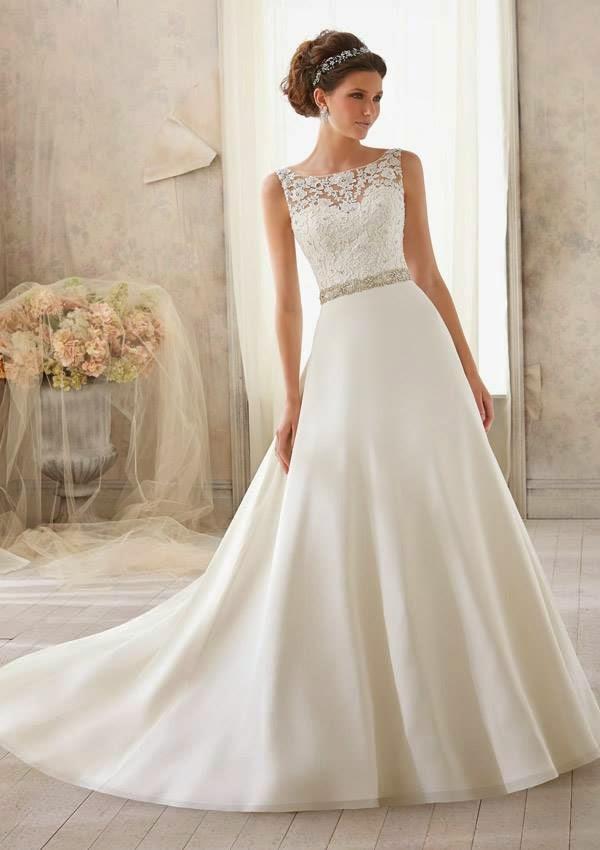 Vestidos de novia romanticos sencillos