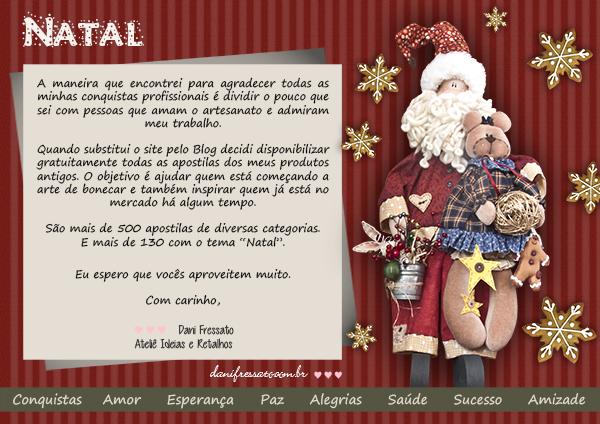 Apostilas de Natal Gratuitas - Ideias e Retalhos por Dani Fressato