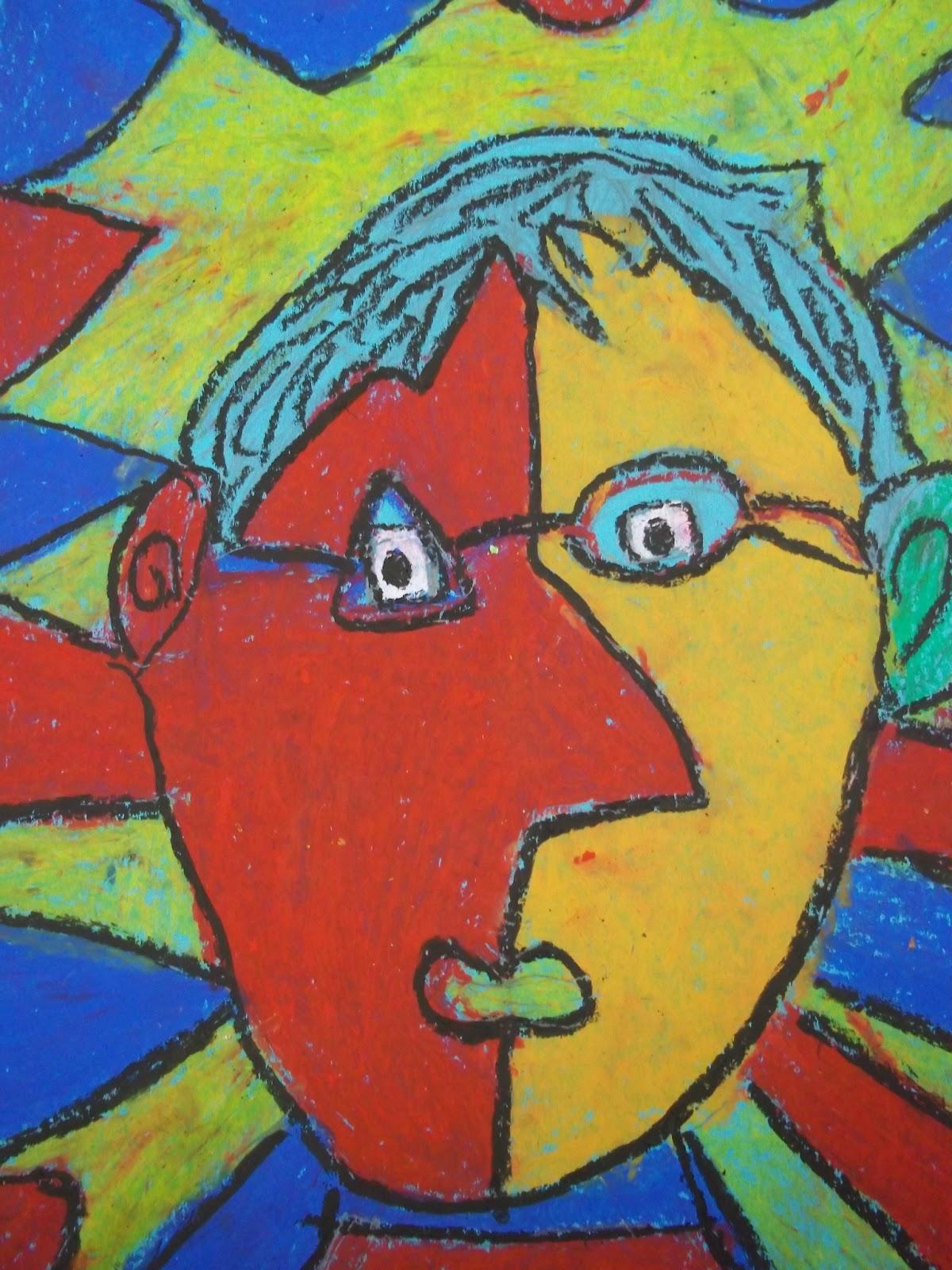 Art Kids of Benavidez Elementary: Self-Portraits - Picasso Style