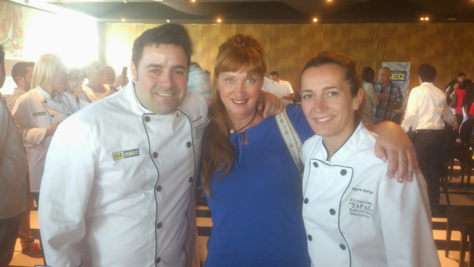 Con Antonio Arrabal y Begoña Rodrigo. Top Chef 2013