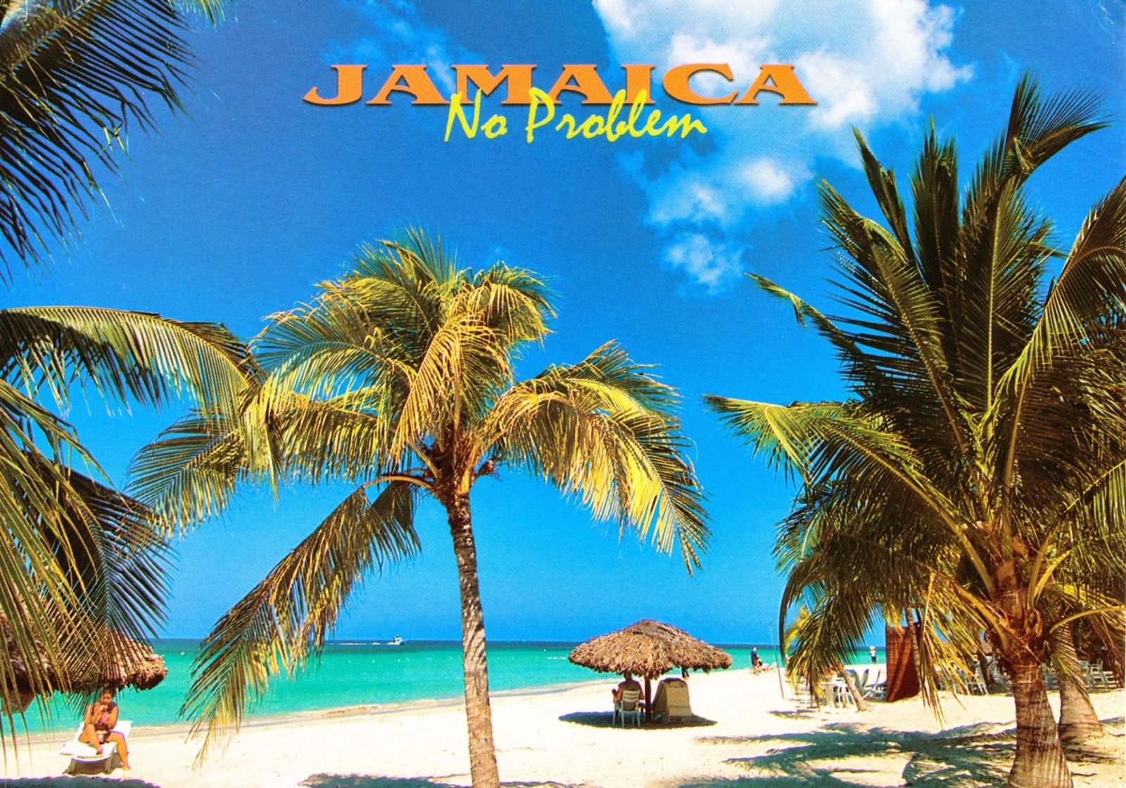 jamaica, postcard, beach