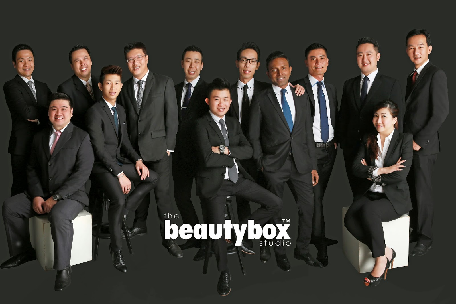 the beautybox studio  corporate group studio photography