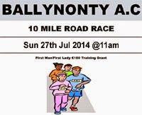 Sun 27th July...10 mile race in Tipp for €10