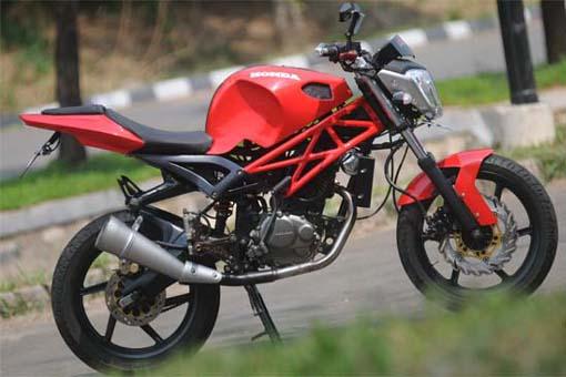 Modifikasi Honda Mega Pro Streetfighter
