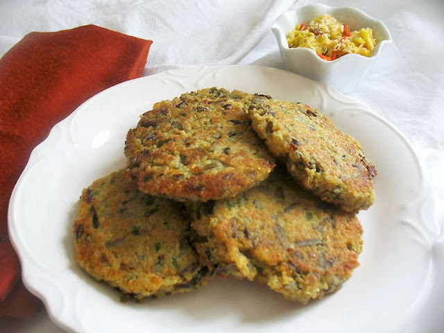 Mango Coconut Chutney with Wild Rice Quinoa Cakes