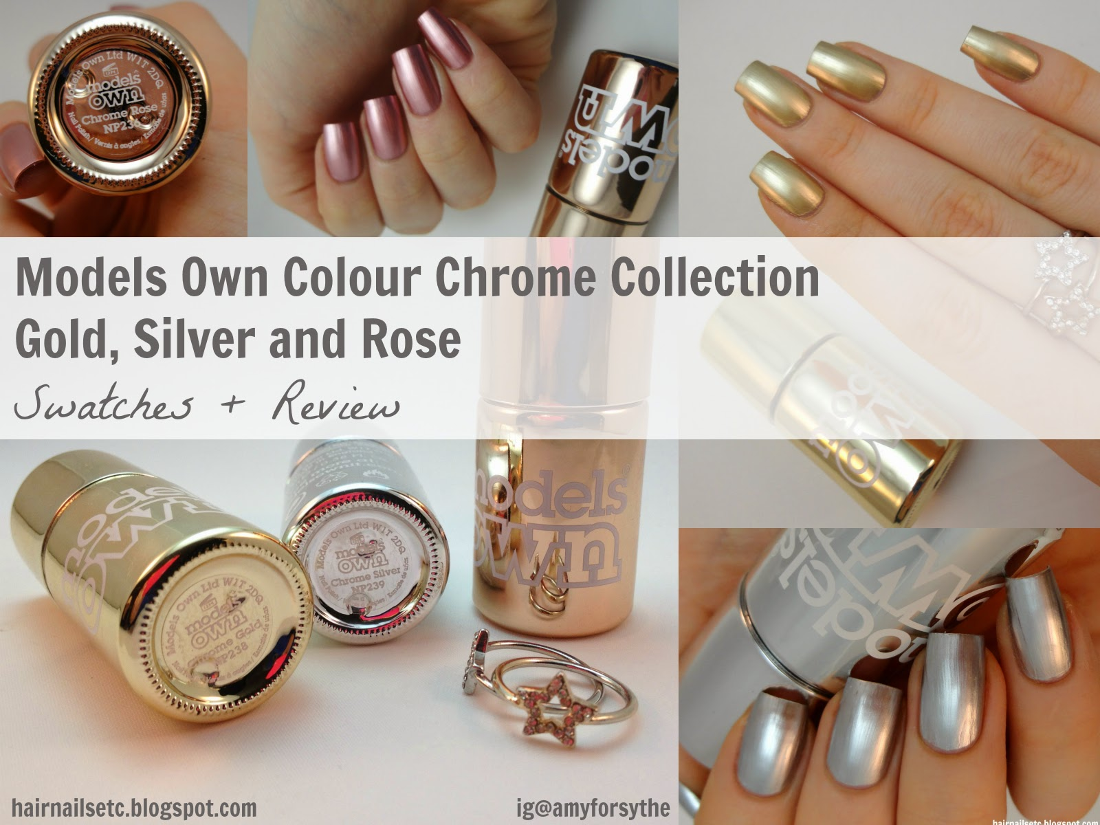 Models Own Colour Chrome Collection Swatches and Review