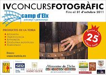 4º PREMIO EN EL IV CONCURSO CAMP D'ELX, PAISATGE I PAISANATGE 2011