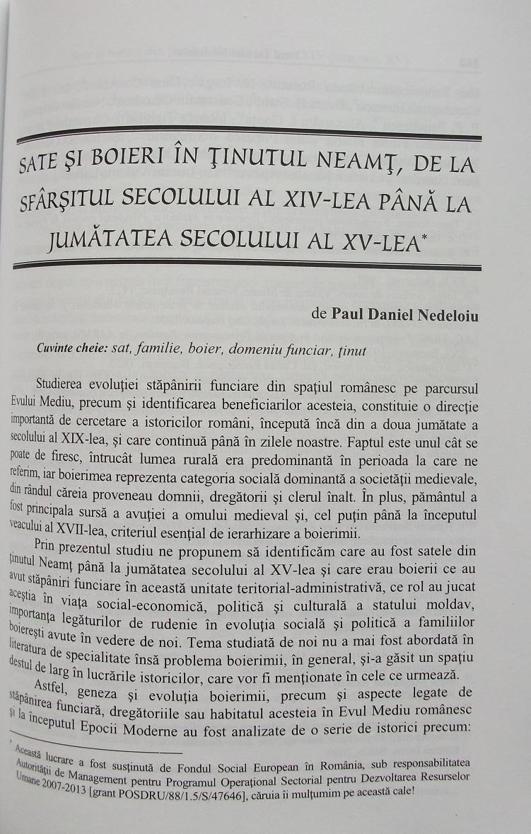 Prima pagină a celor două studii...