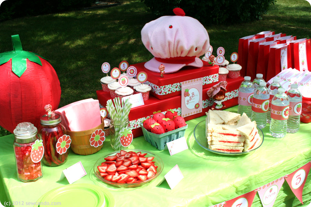 Sew Can Do A Strawberry Shortcake Birthday Party Thrifty