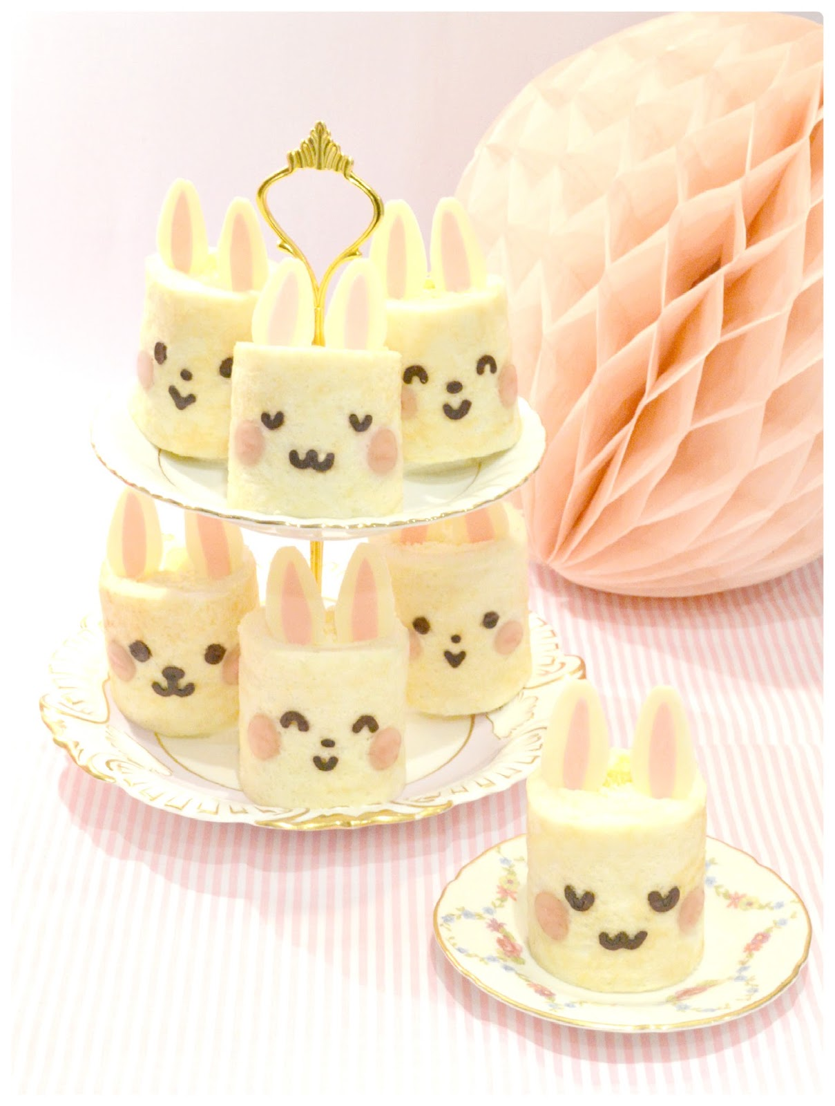 Cherie Kelly's Bunny Deco Japanese Sponge Roll Cake