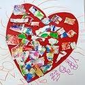 Torn Paper Valentine