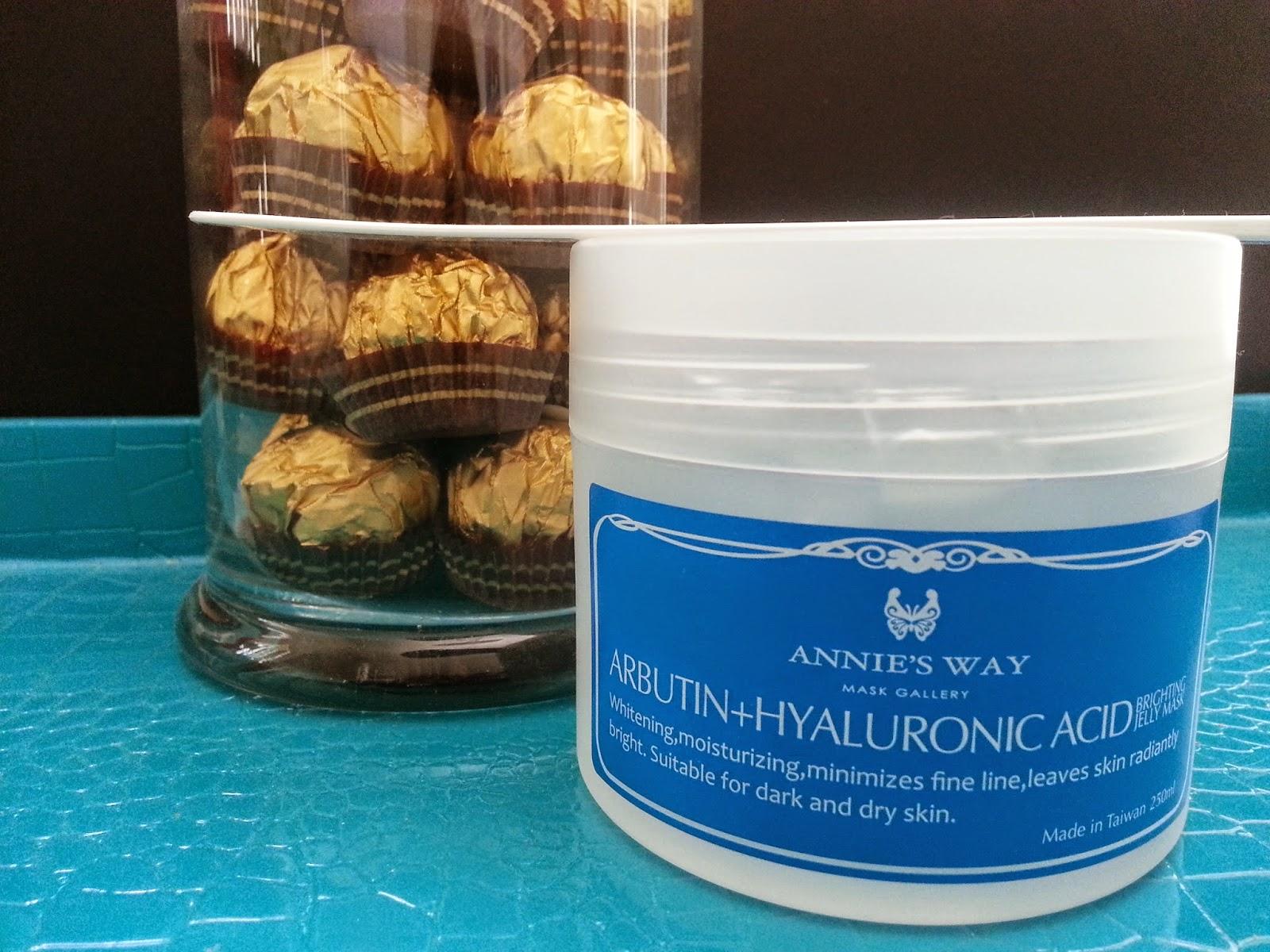 Annie's Way Arbutin + Hyaluronic Acid Brightening Jelly Mask