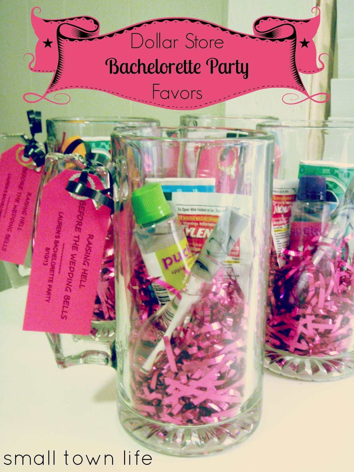 Small Town Life: {Dollar Store} Bachelorette Party Favors