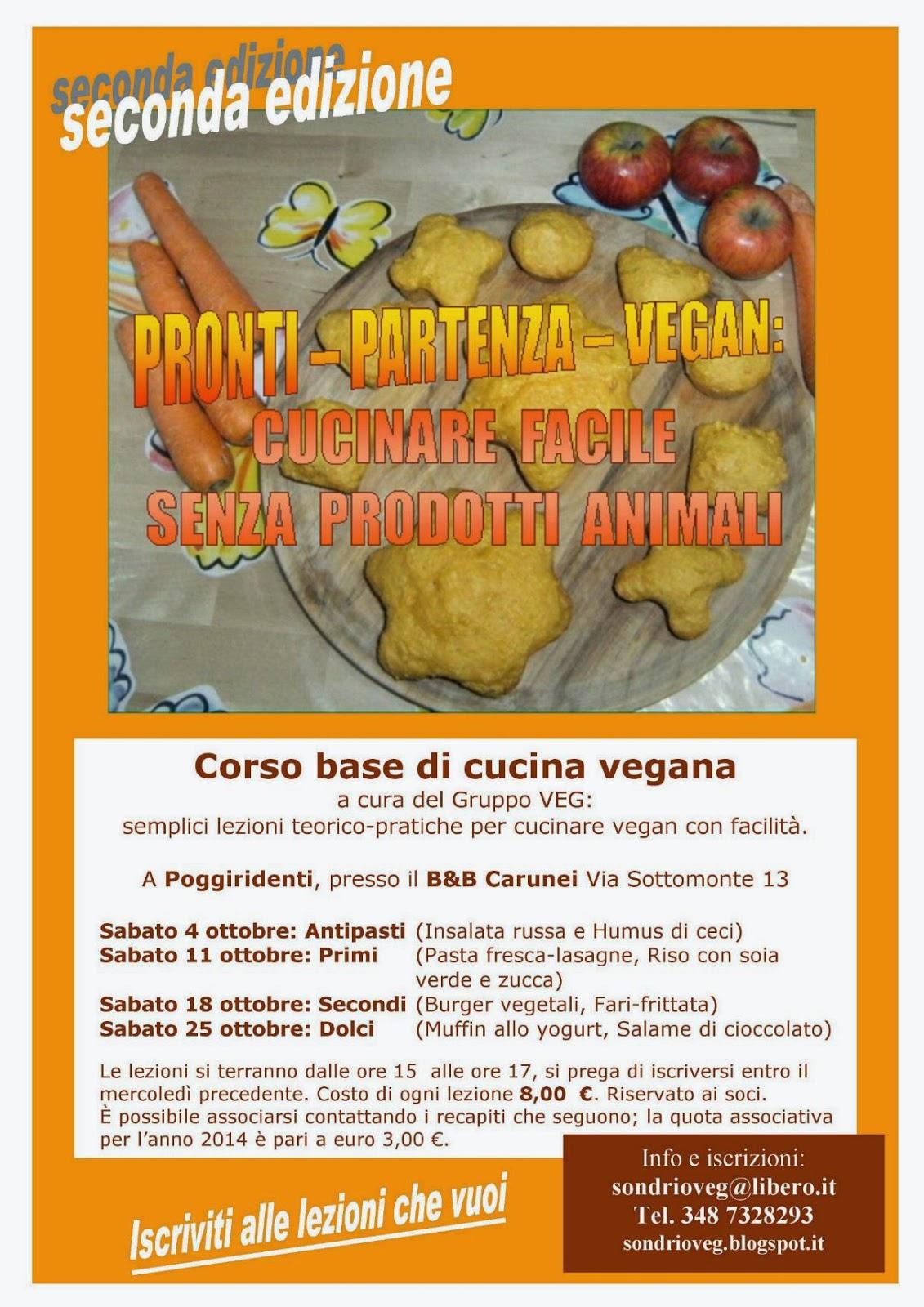 Gruppo veg vegani e vegetariani valtellina valchiavenna e altolario corso base di cucina vegana - Corso base di cucina ...